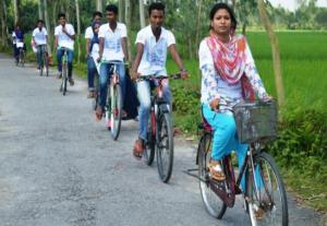 Youth peace day bicycle rally